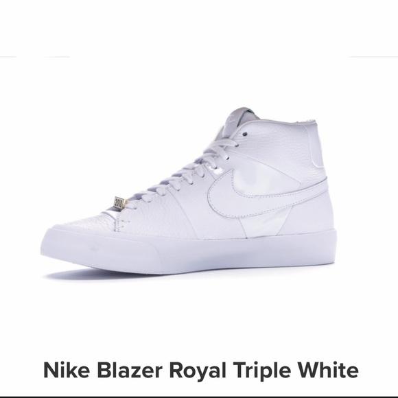 triple white nike blazer